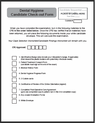 2019 Candidate Check Out