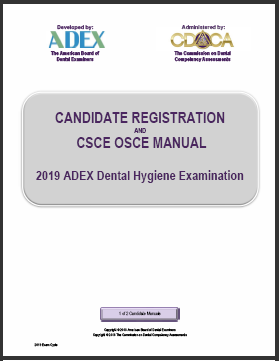 2019 Dental Hygiene Candidate Registration Manual
