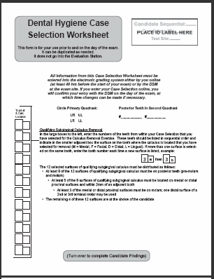 2019 Case Selection Candidate Findings Worksheet