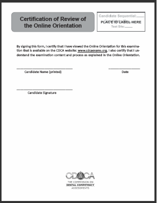 2019 Certification of Review of the Online Orientation
