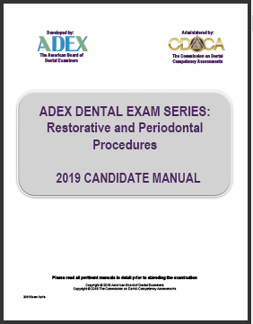 ADEX Dental Exam Manual - Restorative and Periodontal Procedures