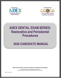 ADEX Dental Exam Manual - Restorative and Periodontal Procedures