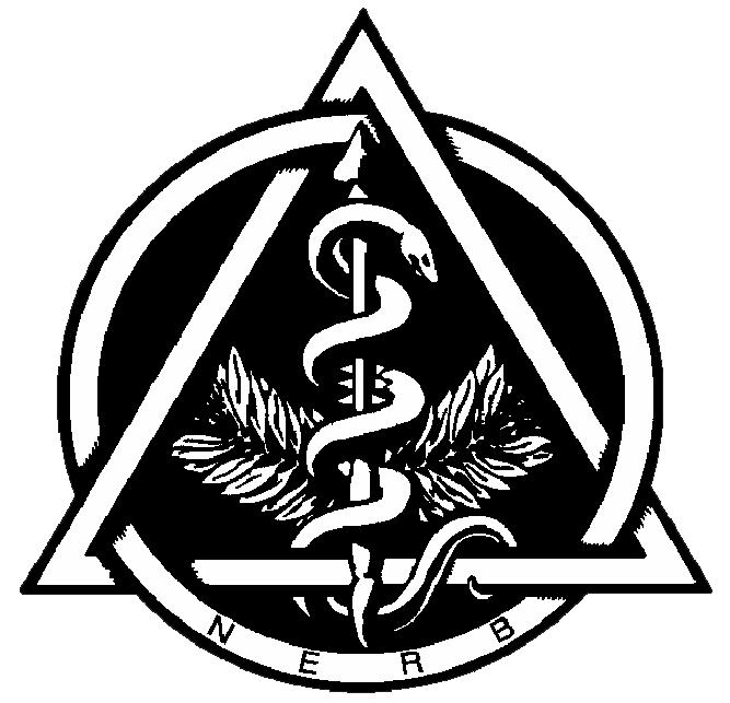 Original logo of the North East Regional Board of Dental Examiners, circa 1969.